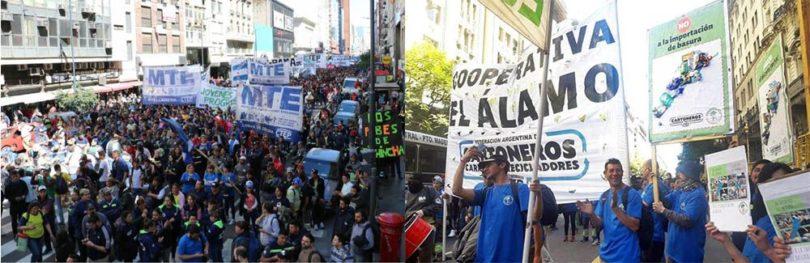 Movilización Federación Argentina de Cartoneros