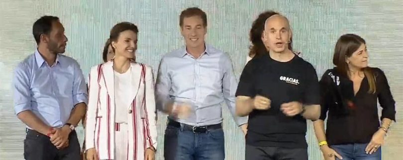 Festejo de Rodríguez Larreta