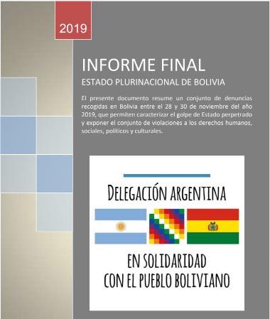 Informe de la Delegación Argentina en Solidaridad en Bolivia