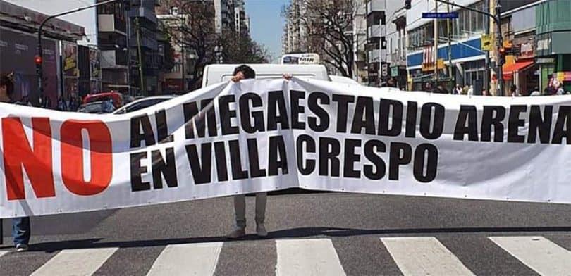 No al Estadio Movistar Arena