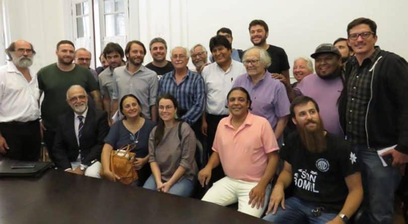 Delegación Argentina en Solidaridad con Bolivia con Evo Morales