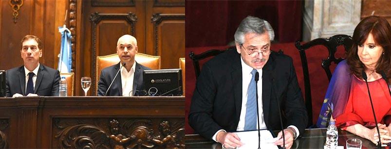 Alberto Férnandez y Rodríguez Larreta