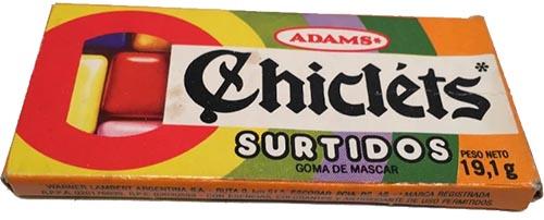 caja chiclets adams