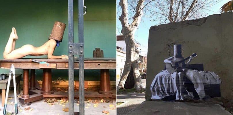 Tronco, foto y mural