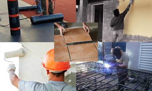 Casas, obra, reparaciones y mantenimiento