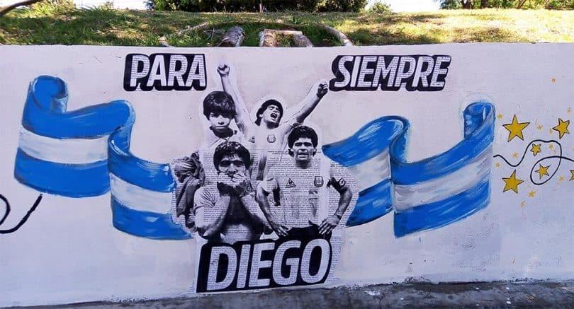 Mural de Maradona Villa Pueyrredón