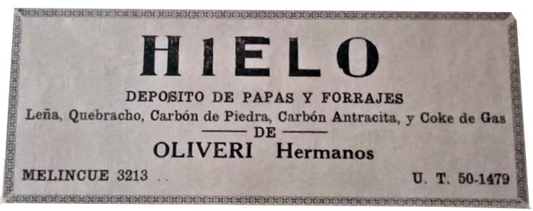 Los Olivieri, venta de hielo y deposito de papas y forrajes
