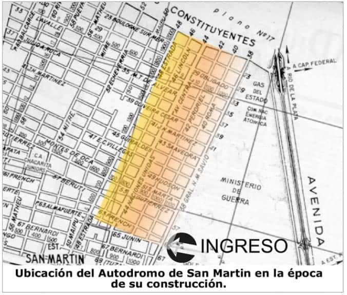 Mapa Autódromo Gral. San Martín