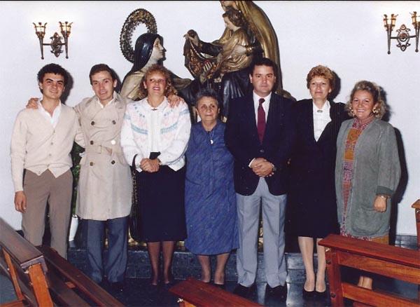Familia de caseros del Convento Carmelitas descalzas