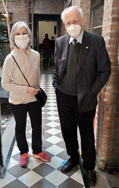 Manuel Antín y María Fernanda Gómez