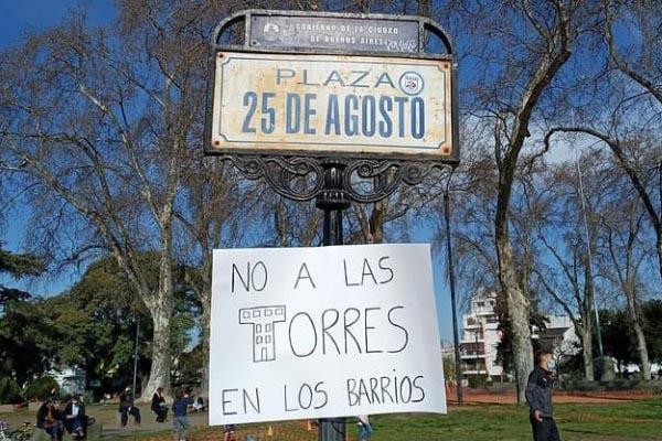 No a las torres en Villa Ortuzar